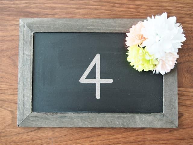 「4」の画像