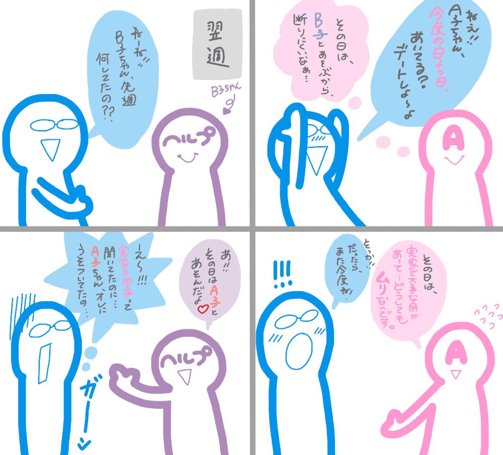 お客さんとヘルプの会話漫画